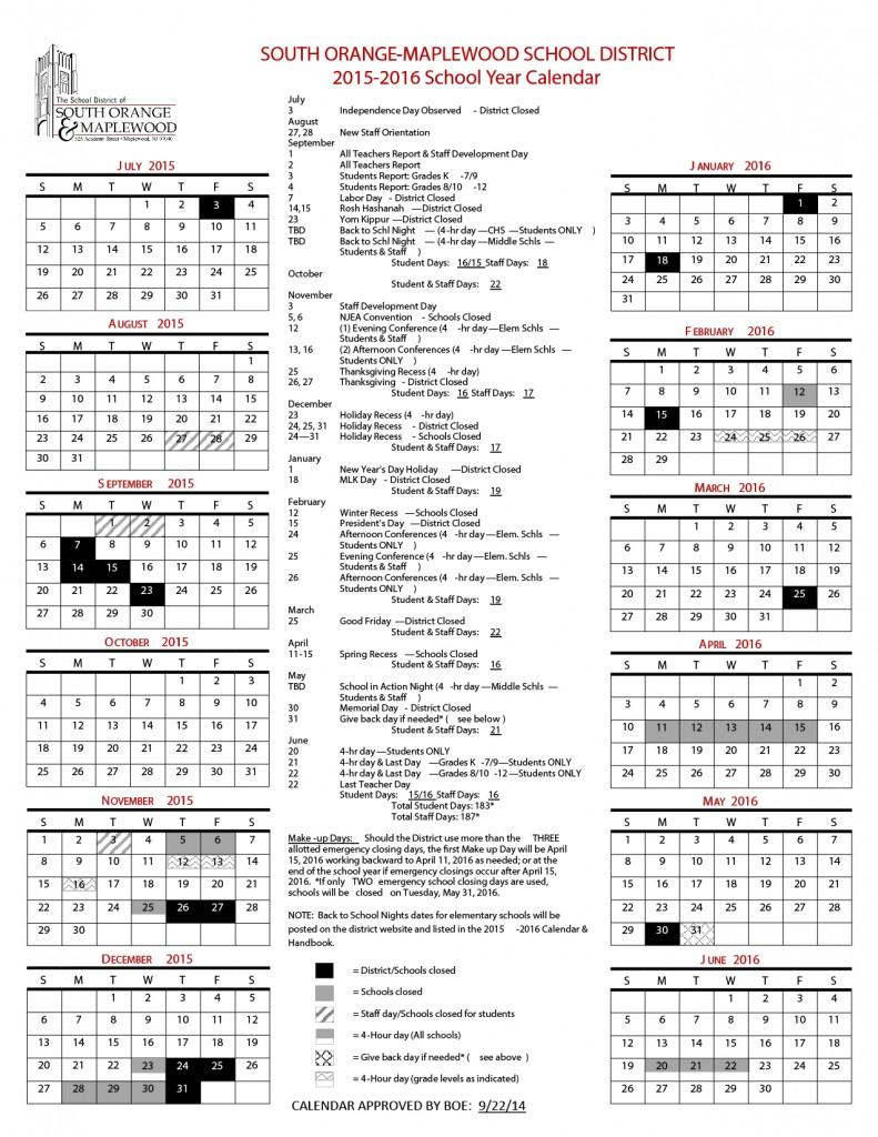 Calendar Academy Of Art University : District calendar columbia high school